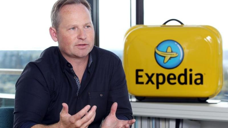 El CEO de Expedia, Mark Okerstrom. Foto: Business Journal.