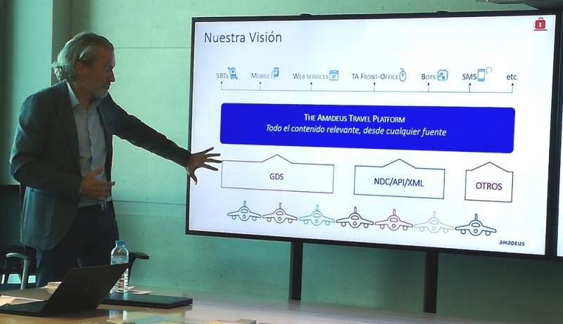 El director de Marketing de Amadeus España, Ludo Verheggen, explicado los detalles de la nueva plataforma.