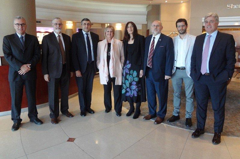 Zurab Pololikashvili, nuevo secretario general de la OMT, se reunió con la plana mayor del Ministerio de Turismo de Uruguay y el presidente de la Cámara Uruguaya de Turismo. Foto: J. Lyonnet.