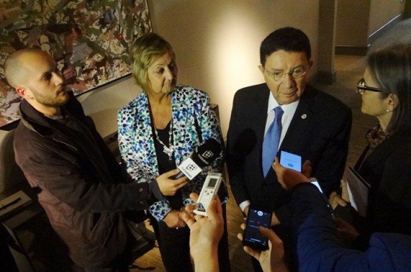 Taleb Rifai se reunió con el presidente Tabaré Vázquez y posteriormente fue reconocido por referentes del sector turístico en una recepción. Foto: J. Lyonnet