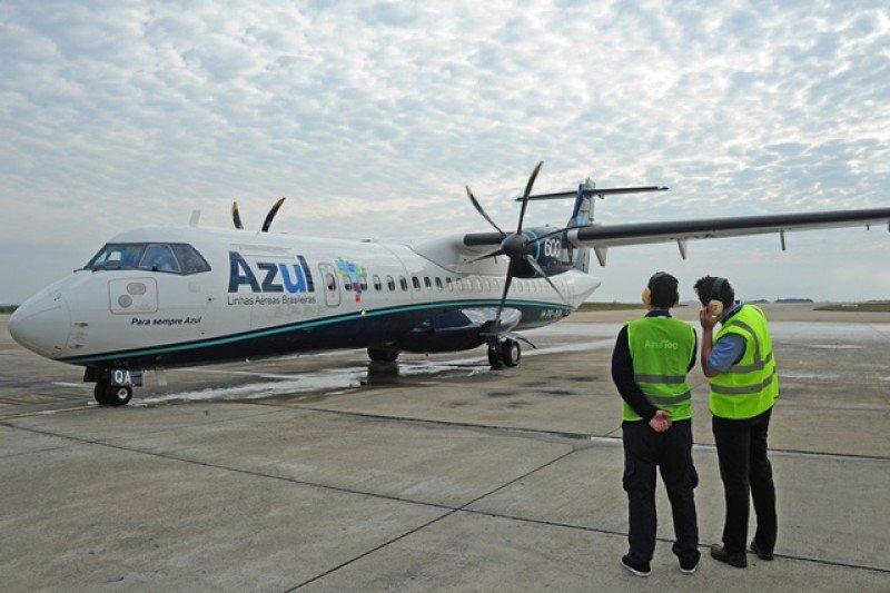 Aeronave ATR 72-600 de la aerolínea Azul.