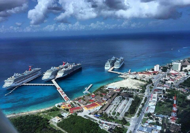 Puerto de cruceros de Cozumel, uno de los más activos del Caribe. Foto: Sedetur.