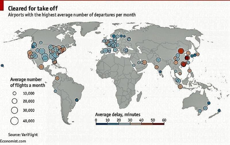 Elaborado por The Economist. Fuente: Variflight.