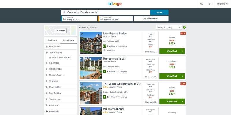 Trivago integra a HomeAway en su buscador de hoteles