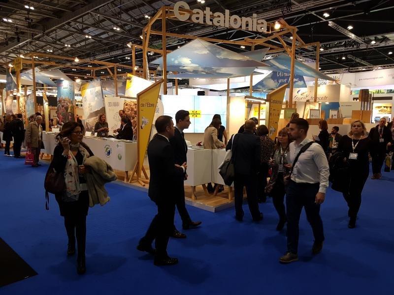 Estand de Cataluña en World Travel Market.