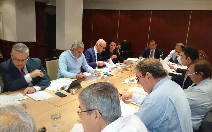 La reunión de la Alianza de Municipios Turisticos de Sol y Playa contó con la presencia del presidente y del secretario general de la Confederación Española de Hoteles y Alojamientos Turísticos (CEHAT), Juan Molas y Ramón Estalella.