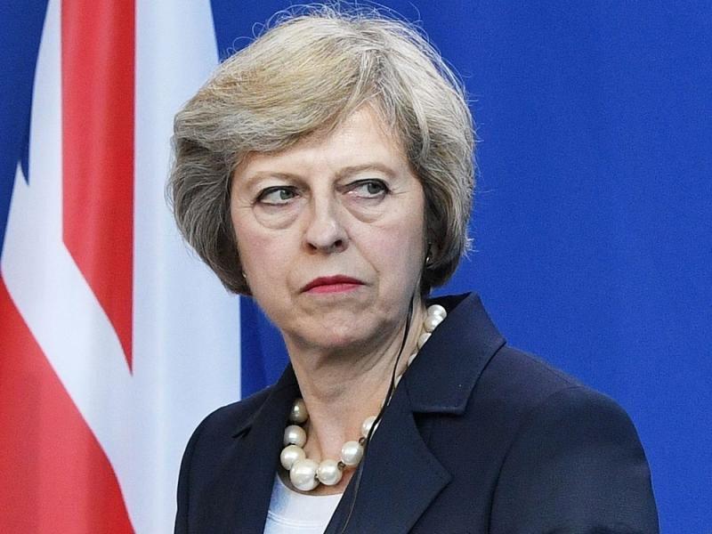 La primera ministra británica,Theresa May.