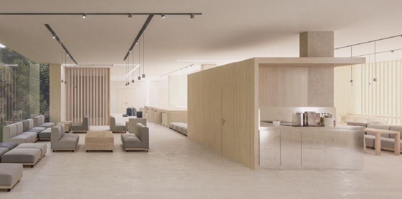 El mobiliario modular y móvil facilitará que pueda moverse dependiendo de las necesidades del momento, adaptándose en diferentes configuraciones para crear distintos espacios.