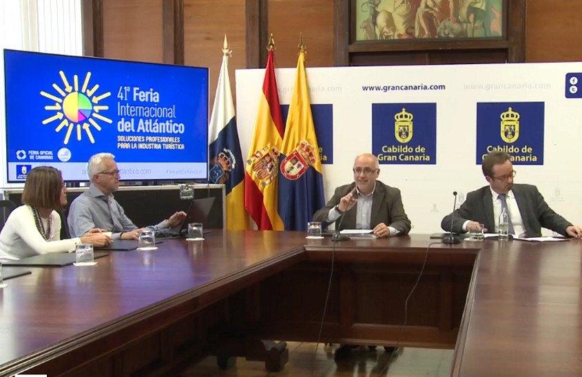 En la presentación de la feria participaron el presidente del Cabildo de Gran Canaria, Antonio Morales, y el consejero de Desarrollo Económico, Raúl García Brink, entre otros.
