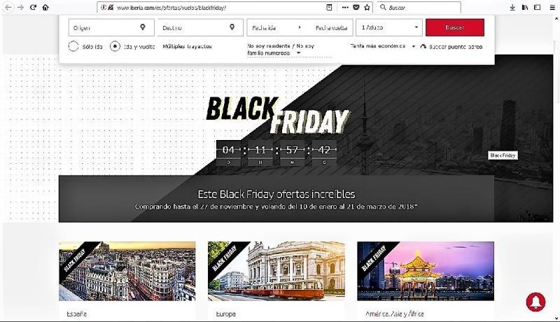 Iberia y Avanza tiran los precios en el Black Friday