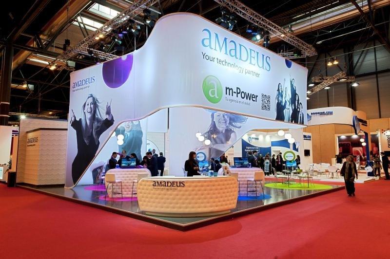 Stand de Amadeus España en FITUR 2012, edición en la que fue reconocido con el Premio al Mejor Stand ese año.
