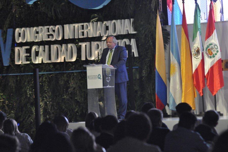 Miguel Mirones, durante su intervención en el congreso.