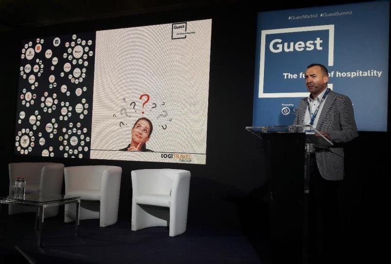 Tomeu Bennasar, CEO de Logitravel, en su intervención en Guest Summit.