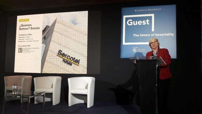 """Marisol Turró, presidenta de Sercotel, destacó cómo han pasado de su """"modelo de gestión tradicional a orientarnos cada vez más hacia la franquicia""""."""