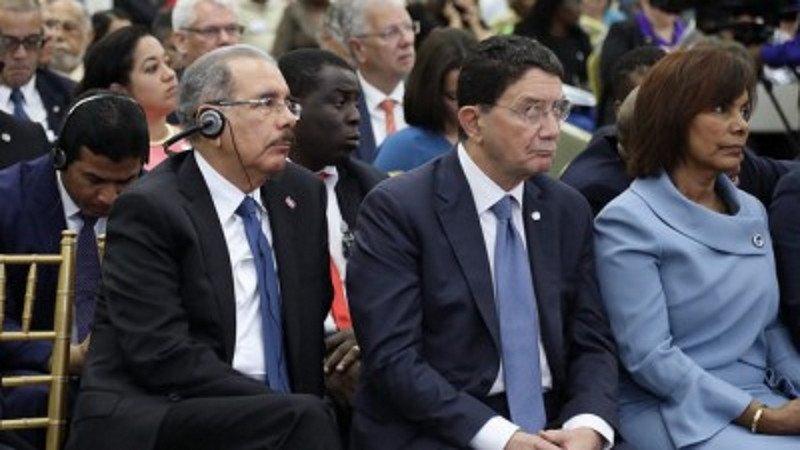 El presidente Danilo Medina asistió a la apertura de la Conferencia Mundial del Turismo, en la que también participó Taleb Rifai, secretario general de la OMT.
