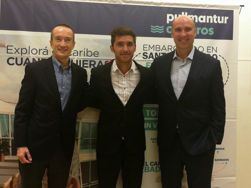 De izq a der: José Blanco (Vicepresidente Comercial); Pablo Yuri (Gerente del Cono Sur) y Alejandro Páez (Director de Ventas Internacionales).