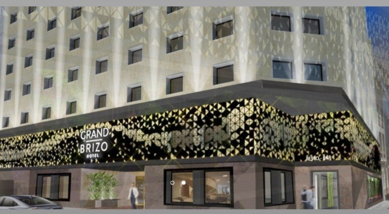 El hotel Grand Brizo Buenos Aires será inaugurado antes de fin de año en Cerrito y Perón. Foto: Render de obra.