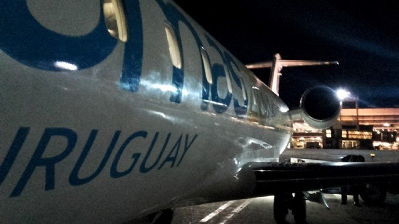 Amaszonas Uruguay cancela sus vuelos por accidente laboral en Carrasco
