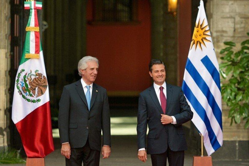 Los presidentes Vázquez y Peña Nieto se reunieron en México. Foto: Presidencia Uruguay.