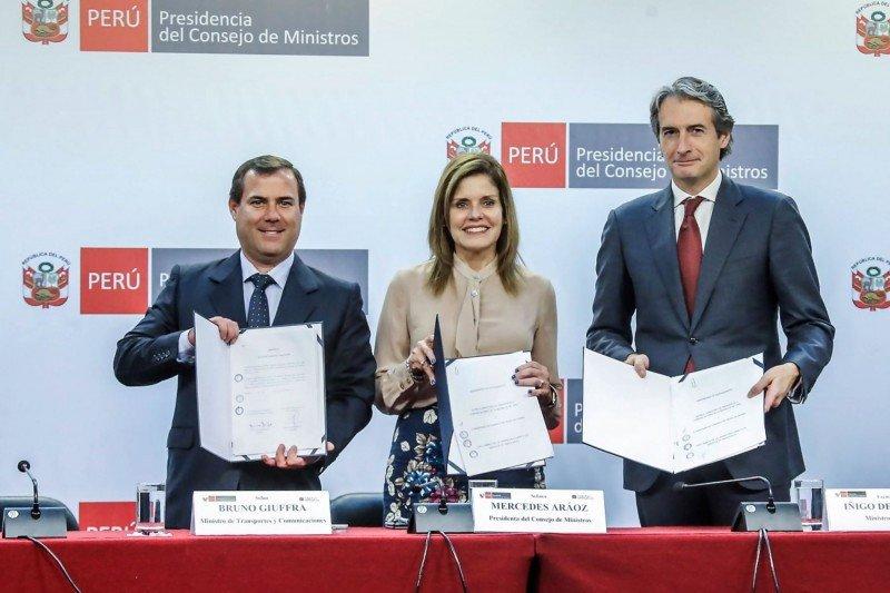 Acuerdo entre gobiernos fue anunciado en Lima. Foto: Andina.