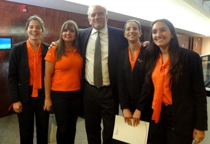 Miguel Vieytes y equipo de GOL en una presentación en Montevideo. Foto: J. Lyonnet.
