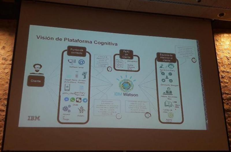 Para José Luis Salcedo, de IBM, es necesario centralizar todos los datos en una plataforma cognitiva que aúne la información generada en los puntos de contacto y la existente en su perfil para que los equipos de atención al cliente le den la respuesta adecuada.