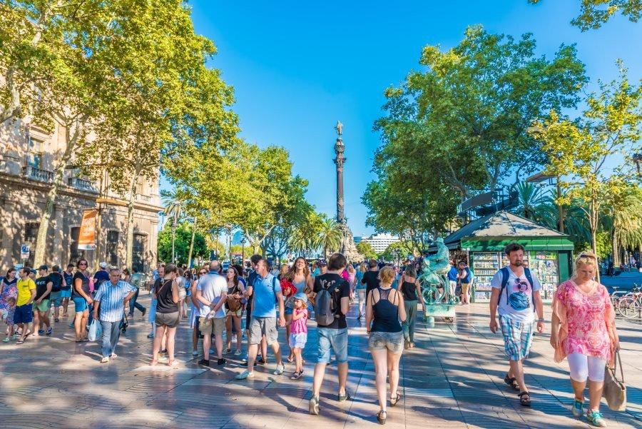 Cataluña registró un caída del 4,7% en la llegada de turistas extranjeros en octubre.