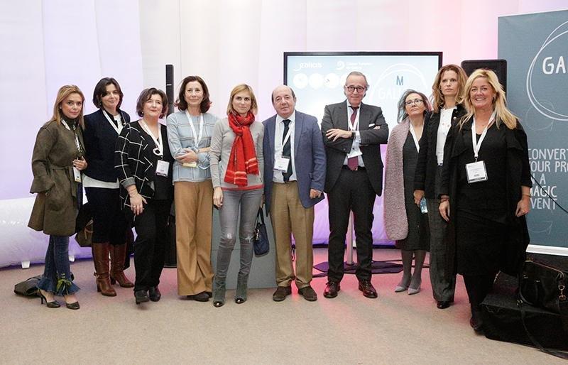 La delegación de Galicia MICE en la feria IBTM de Barcelona la semana pasada, donde se presentó la oferta de congresos y convenciones así como una una guía específica para este segmento.