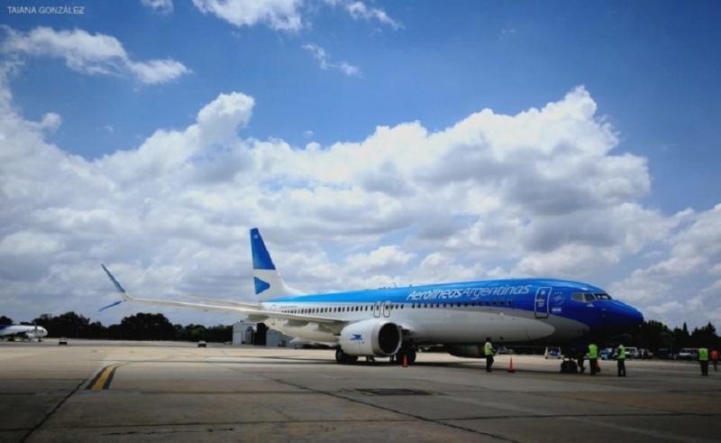 Aerolíneas Argentinas, la primera de Latinoamérica en operar el 737 MAX 8 (Foto Taiana González).