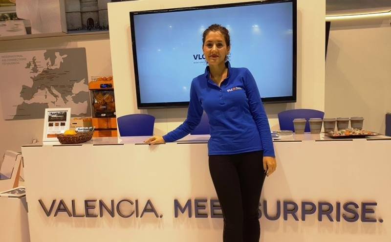Maria Ángeles Redondo, directora del Valencia Convention Bureau, en la feria IBTM que se celebró la semana pasada en Barcelona.