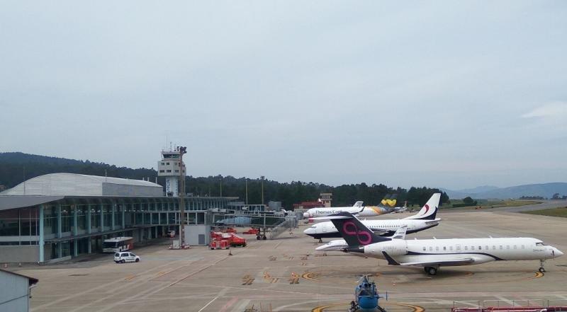 El Aeropuerto de Vigo ha sido el más afectado.