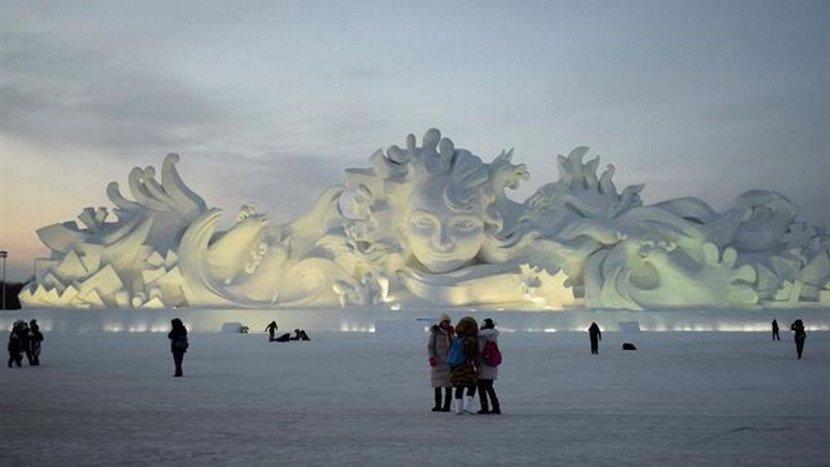 La temperatura en esta época del año en Harbin suele rondar los 25 grados bajo cero.