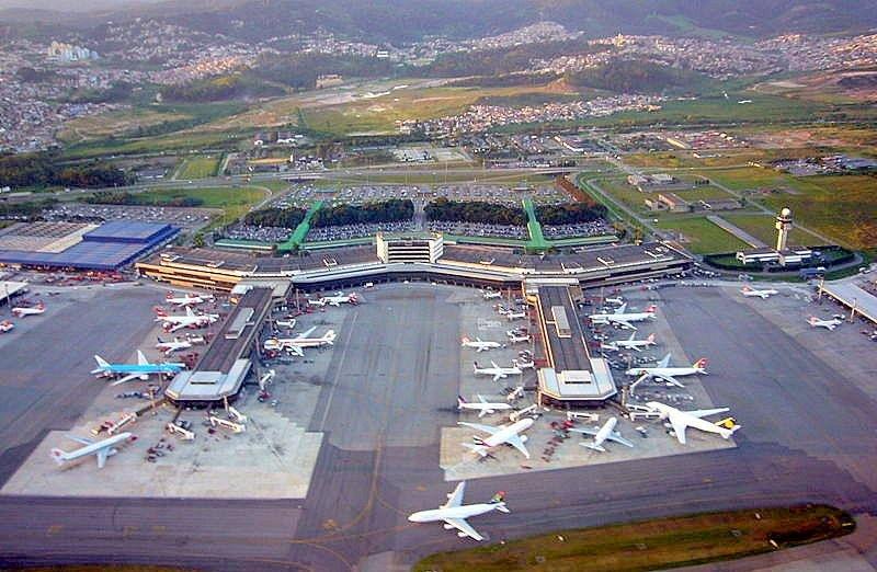 Aeropuerto Internacional de Sao Paulo, ya con gestión privada. Foto: Wikipedia. Autor: Andomenda.