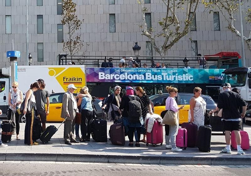 Turistas en el centro de Barcelona, el pasado septiembre.