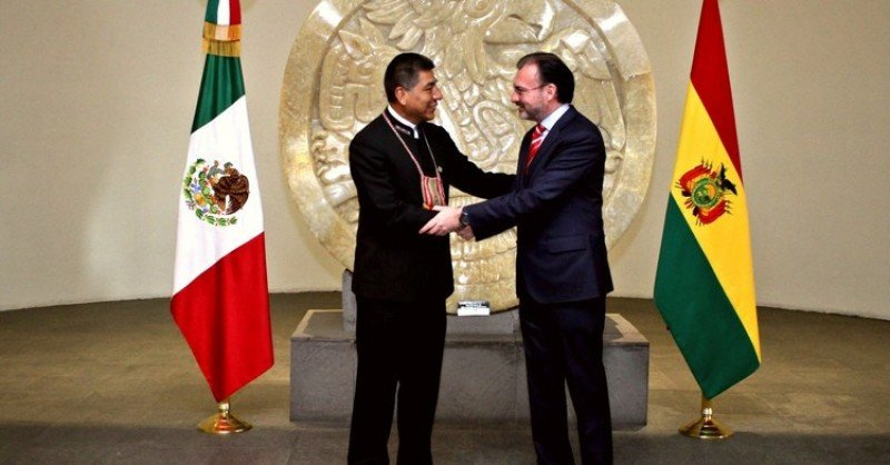Fue la primera visita de un canciller boliviano a México en 10 años.