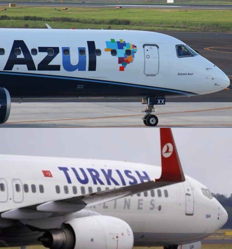 Brasileña Azul y Turkish Airlines con código compartido