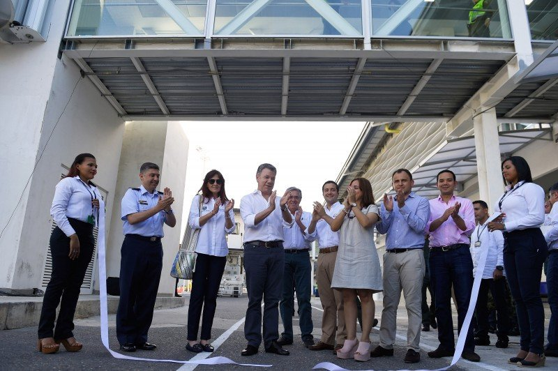 El presidente de Colombia encabezó la inauguración de las nuevas obras en Santa Marta.