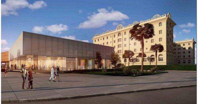 Así quedará el Argentino Hotel de Piriápolis, según el proyecto presentado por el grupo ganador de la licitación.