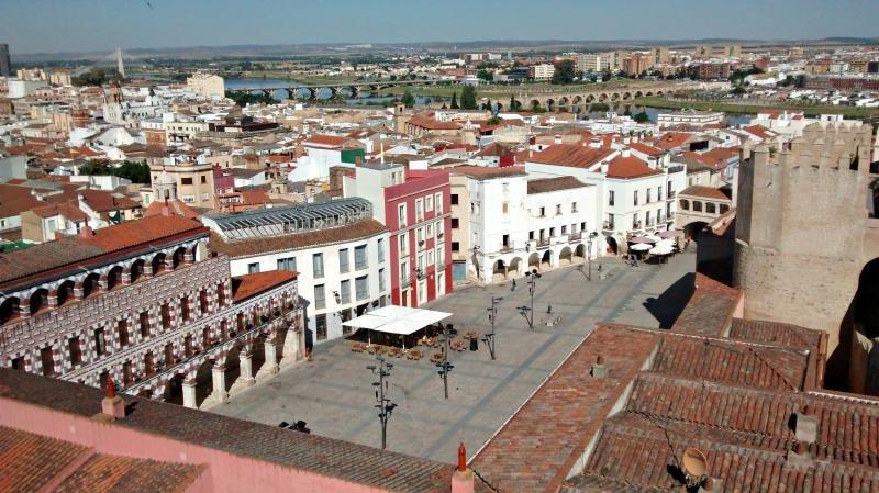 Centro histórico de Badajoz. Foto: Alonso de Mendoza.