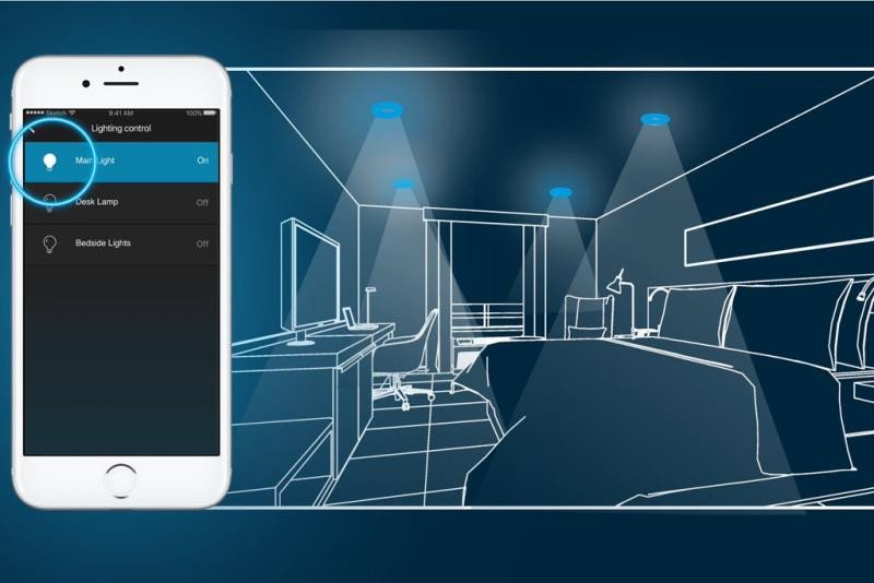 Con la app de Hilton Honors los clientes podrán ejecutar muchas de las acciones que hasta ahora hacían de manera manual, desde controlar la temperatura y las luces hasta la televisión y las cortinas. Imagen: Hilton.