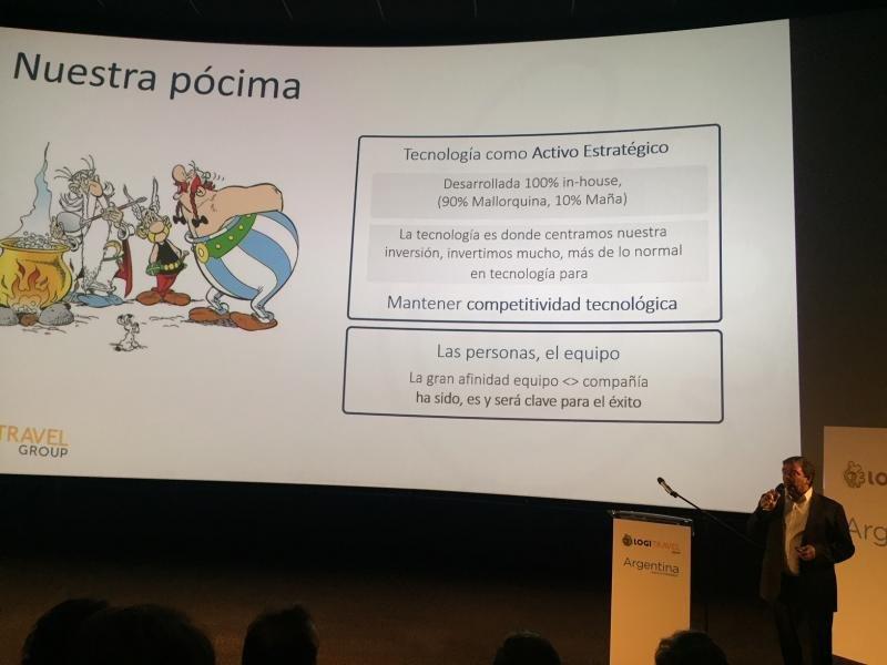 Ovidio Andrés en la presentación de la nueva tienda física de Logitravel.
