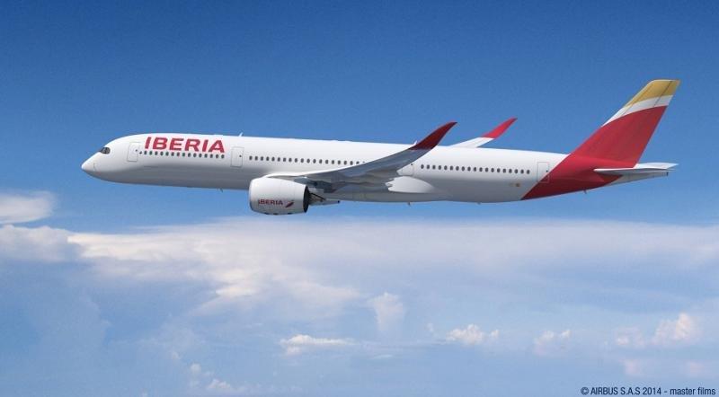 Iberia estrena en agosto el A350-900, el avión más avanzado del mercado