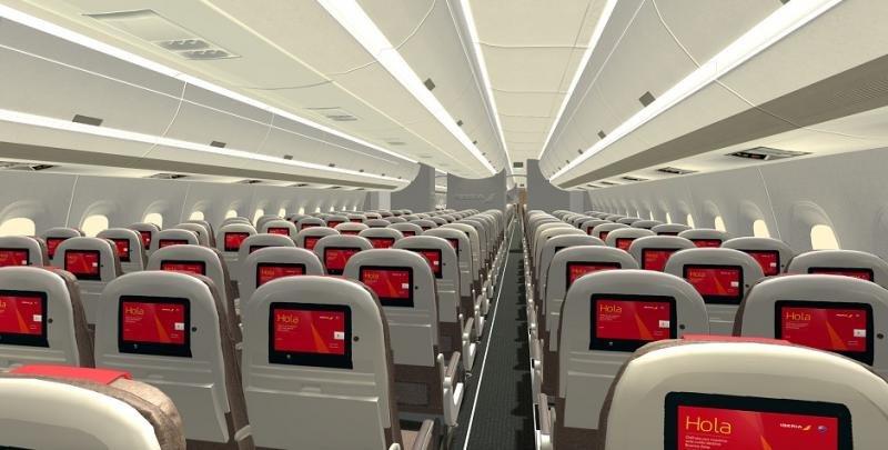 Cabina Eonomy del nuevo A350-900.