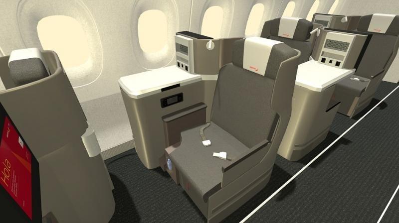 Cabina Business del nuevo A350-900.