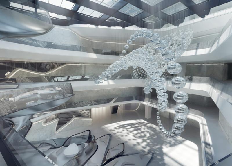 Interior del ME Dubai, llamado a convertirse en icono de la hostelería en la región, según ha destacado Gabriel Escarrer.