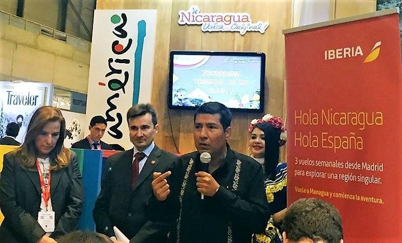 Presentación del nuevo vuelo de Iberia a Nicaragia en FITUR 2018. Foto: @MeetinNews