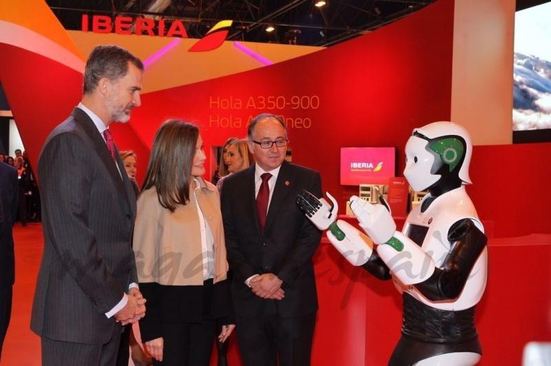 El stand de Iberia en Fitur 2018 fue uno de los visistados por los Reyes de España (Foto © Casa S.M. El Rey).