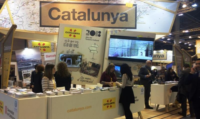 Estand de Cataluña en Fitur 2018.
