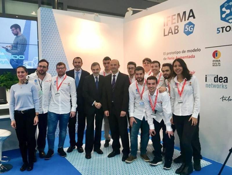 Imagen del equipo de IFEMA LAB 5G en la pasada edición de Fitur.