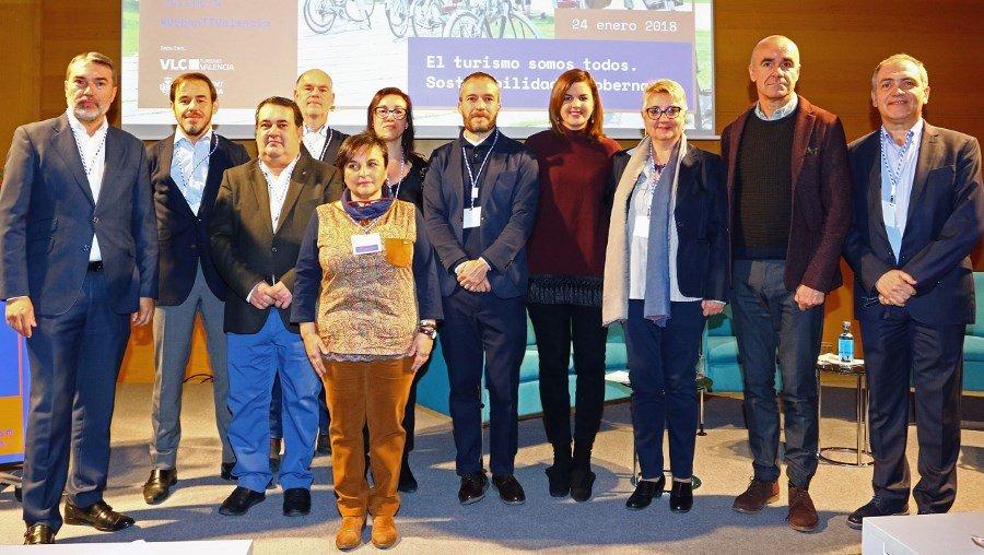 """Los participantes en la segunda jornada del Urban Tourism Trends, organizada en Valencia con el título Turismo somos todos""""."""